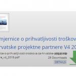 Objavljena nova verzija Smjernica s prilozima o prihvatljivosti troškova u okviru programa Interreg Slovenija-Hrvatska