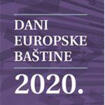 Počinju Dani europske baštine 2020.